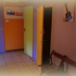 drzwi do sali zielonej i żółtej